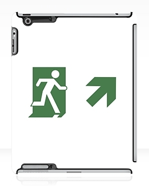 Running Man Exit Sign Apple iPad Tablet Case 81