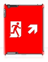 Running Man Exit Sign Apple iPad Tablet Case 82