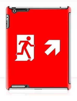 Running Man Exit Sign Apple iPad Tablet Case 82