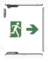 Running Man Exit Sign Apple iPad Tablet Case 83