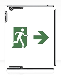 Running Man Exit Sign Apple iPad Tablet Case 83
