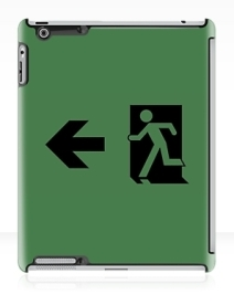 Running Man Exit Sign Apple iPad Tablet Case 84