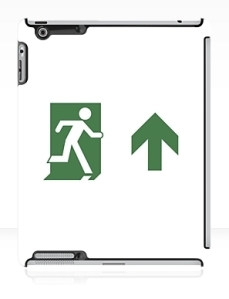 Running Man Exit Sign Apple iPad Tablet Case 85