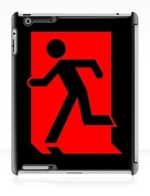 Running Man Exit Sign Apple iPad Tablet Case 86