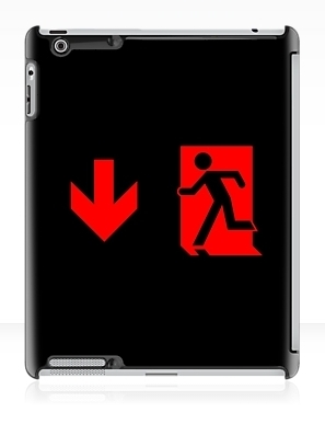 Running Man Exit Sign Apple iPad Tablet Case 87