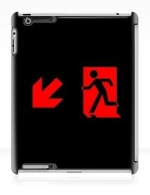 Running Man Exit Sign Apple iPad Tablet Case 89