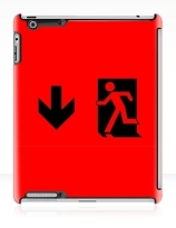 Running Man Exit Sign Apple iPad Tablet Case 9