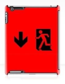 Running Man Exit Sign Apple iPad Tablet Case 9