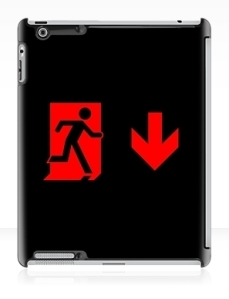 Running Man Exit Sign Apple iPad Tablet Case 93