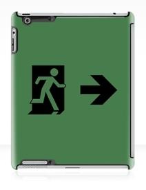 Running Man Exit Sign Apple iPad Tablet Case 94