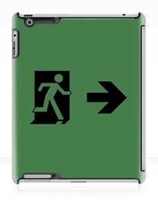 Running Man Exit Sign Apple iPad Tablet Case 94