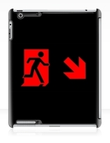 Running Man Exit Sign Apple iPad Tablet Case 95