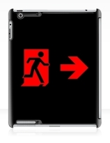 Running Man Exit Sign Apple iPad Tablet Case 98