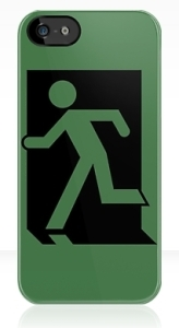 Running Man Exit Sign Apple iPhone 5 Mobile Phone Case 1