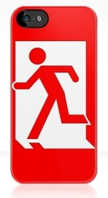 Running Man Exit Sign Apple iPhone 5 Mobile Phone Case 10