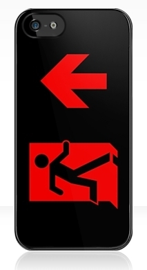 Running Man Exit Sign Apple iPhone 5 Mobile Phone Case 100