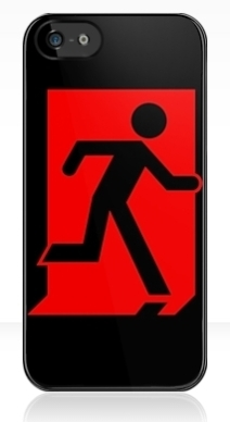 Running Man Exit Sign Apple iPhone 5 Mobile Phone Case 101