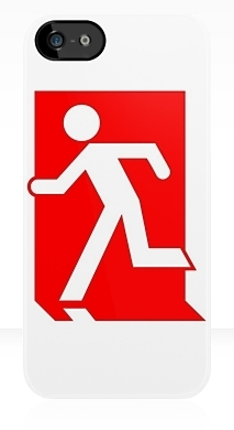 Running Man Exit Sign Apple iPhone 5 Mobile Phone Case 102