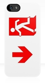 Running Man Exit Sign Apple iPhone 5 Mobile Phone Case 103