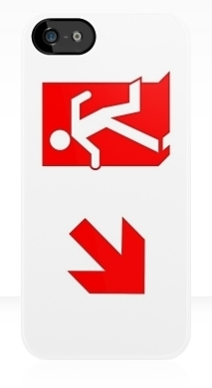Running Man Exit Sign Apple iPhone 5 Mobile Phone Case 104