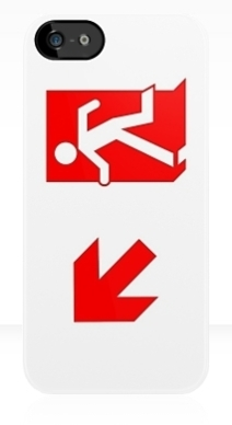 Running Man Exit Sign Apple iPhone 5 Mobile Phone Case 105