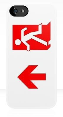 Running Man Exit Sign Apple iPhone 5 Mobile Phone Case 108