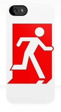 Running Man Exit Sign Apple iPhone 5 Mobile Phone Case 109