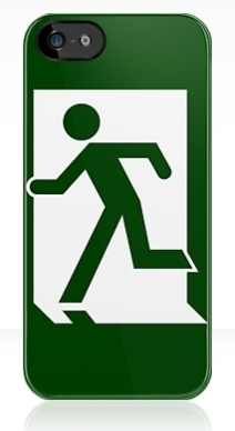Running Man Exit Sign Apple iPhone 5 Mobile Phone Case 11
