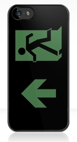 Running Man Exit Sign Apple iPhone 5 Mobile Phone Case 110