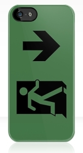 Running Man Exit Sign Apple iPhone 5 Mobile Phone Case 111