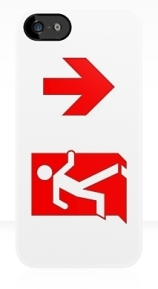 Running Man Exit Sign Apple iPhone 5 Mobile Phone Case 112