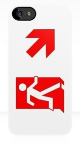 Running Man Exit Sign Apple iPhone 5 Mobile Phone Case 113