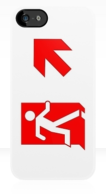 Running Man Exit Sign Apple iPhone 5 Mobile Phone Case 114