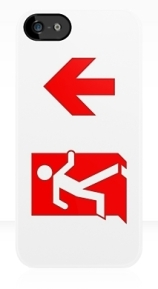Running Man Exit Sign Apple iPhone 5 Mobile Phone Case 116