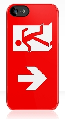 Running Man Exit Sign Apple iPhone 5 Mobile Phone Case 118