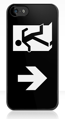 Running Man Exit Sign Apple iPhone 5 Mobile Phone Case 119