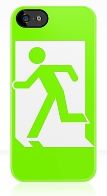 Running Man Exit Sign Apple iPhone 5 Mobile Phone Case 12