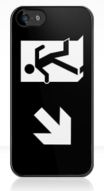 Running Man Exit Sign Apple iPhone 5 Mobile Phone Case 120