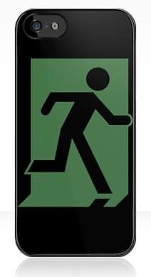 Running Man Exit Sign Apple iPhone 5 Mobile Phone Case 121