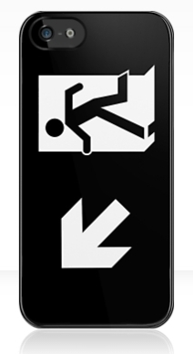 Running Man Exit Sign Apple iPhone 5 Mobile Phone Case 122