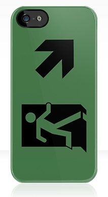 Running Man Exit Sign Apple iPhone 5 Mobile Phone Case 124