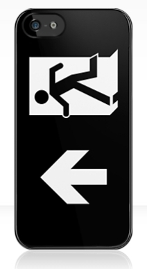 Running Man Exit Sign Apple iPhone 5 Mobile Phone Case 125