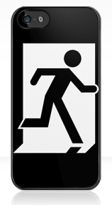 Running Man Exit Sign Apple iPhone 5 Mobile Phone Case 126