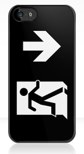 Running Man Exit Sign Apple iPhone 5 Mobile Phone Case 127