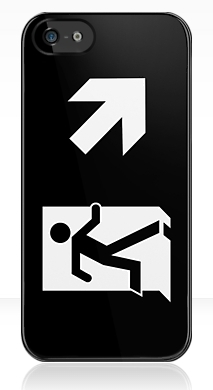 Running Man Exit Sign Apple iPhone 5 Mobile Phone Case 128