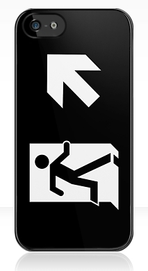 Running Man Exit Sign Apple iPhone 5 Mobile Phone Case 129