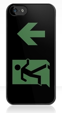 Running Man Exit Sign Apple iPhone 5 Mobile Phone Case 13