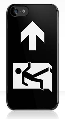 Running Man Exit Sign Apple iPhone 5 Mobile Phone Case 131