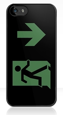 Running Man Exit Sign Apple iPhone 5 Mobile Phone Case 132