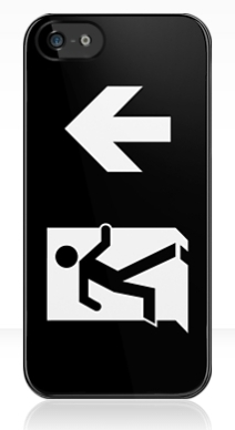 Running Man Exit Sign Apple iPhone 5 Mobile Phone Case 133